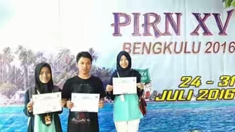 Susi Dwi Septiani Siswi MAN 4 Raih Anggota Kelompok Terbaik Dalam Kegiatan PIRN Di Bengkulu