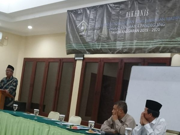 KKM MAN 4 Pandeglang Melaksanakan Rakernis Tahun Anggaran 2019-2020